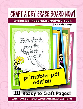 Craft a Dry Erase Board NOW!