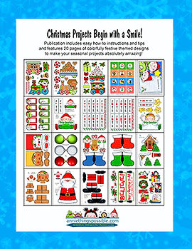 Annie Lang's Paper Clip Christmas ready to craft seasonal art project book page samples
