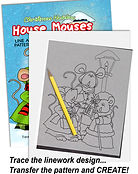 Christmas Holiday House Mouses Line Art Patterns by Annie Lang