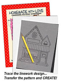 Annie Lang's Homemade With Love Linework Pattern Sample Page