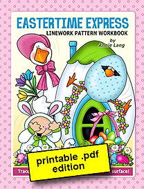 Eastertime Express Linework Pattern Book PDF