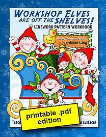 Workshop Elves are off the Shelves Linework Pattern Book PDF
