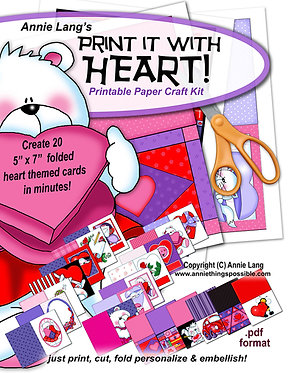 Print it with Heart Activity Book