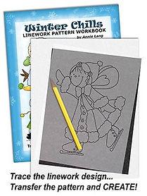 Annie Lang's Winter Chills Linework Pattern Workbook