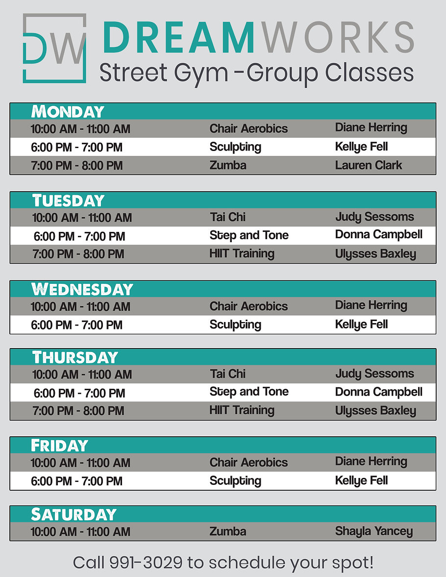 DW Group Classes Street Gym Group Classe