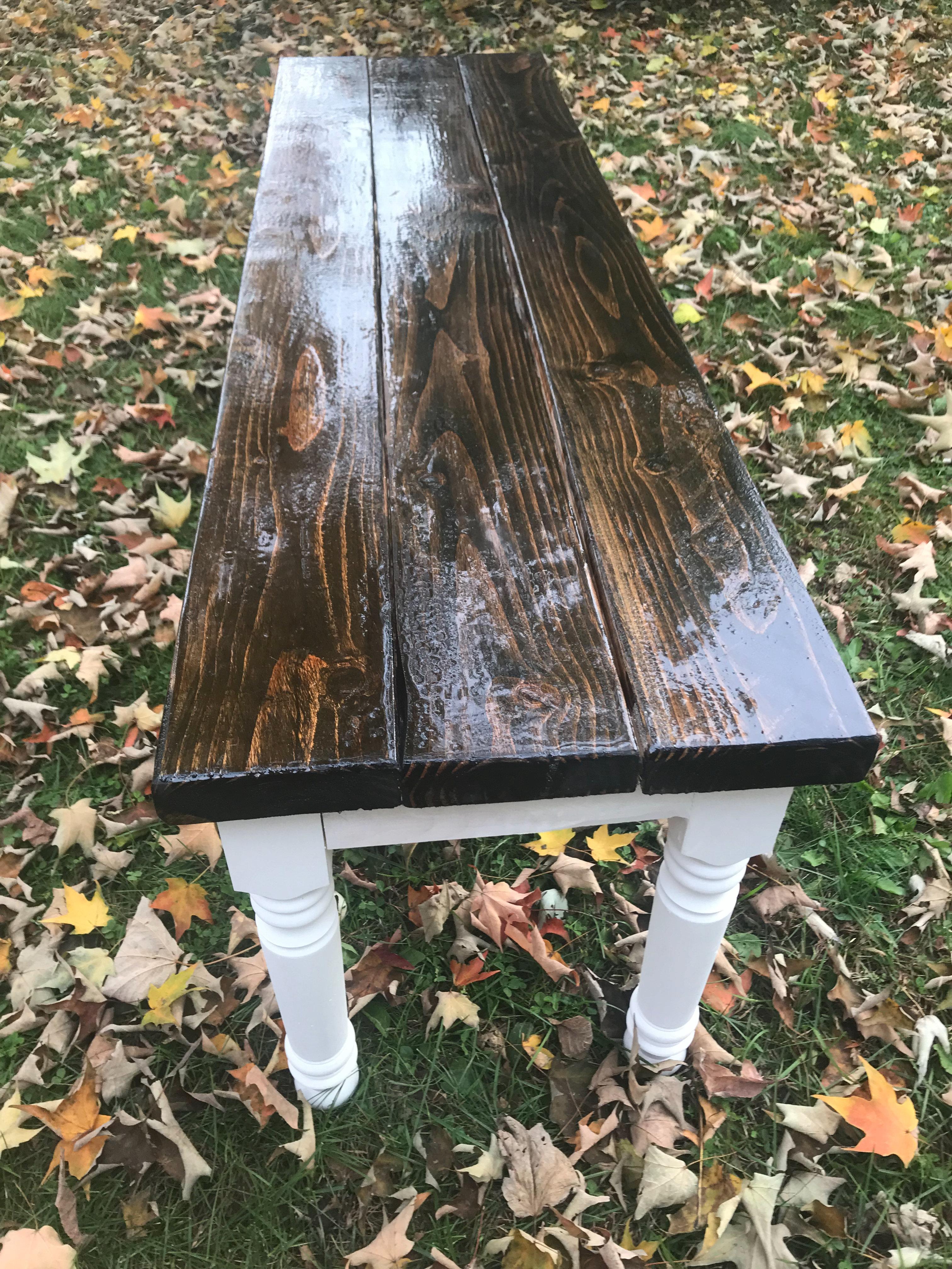 Farmhouse Bench With Skinny Legs Price Based On 58 X 16 5 X 18 Cjbcraftsmanship