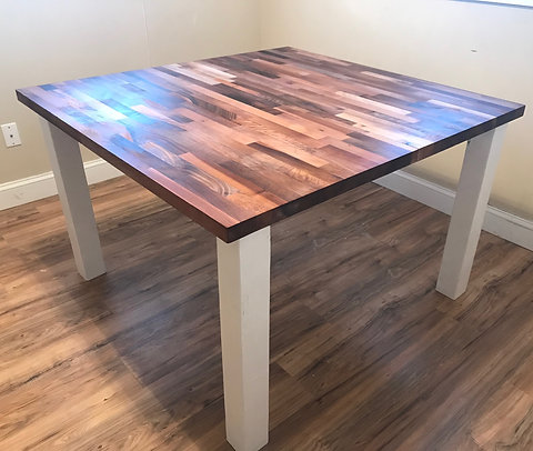 Kitchen Table with European Butcher Block Top - Price Based on 48\