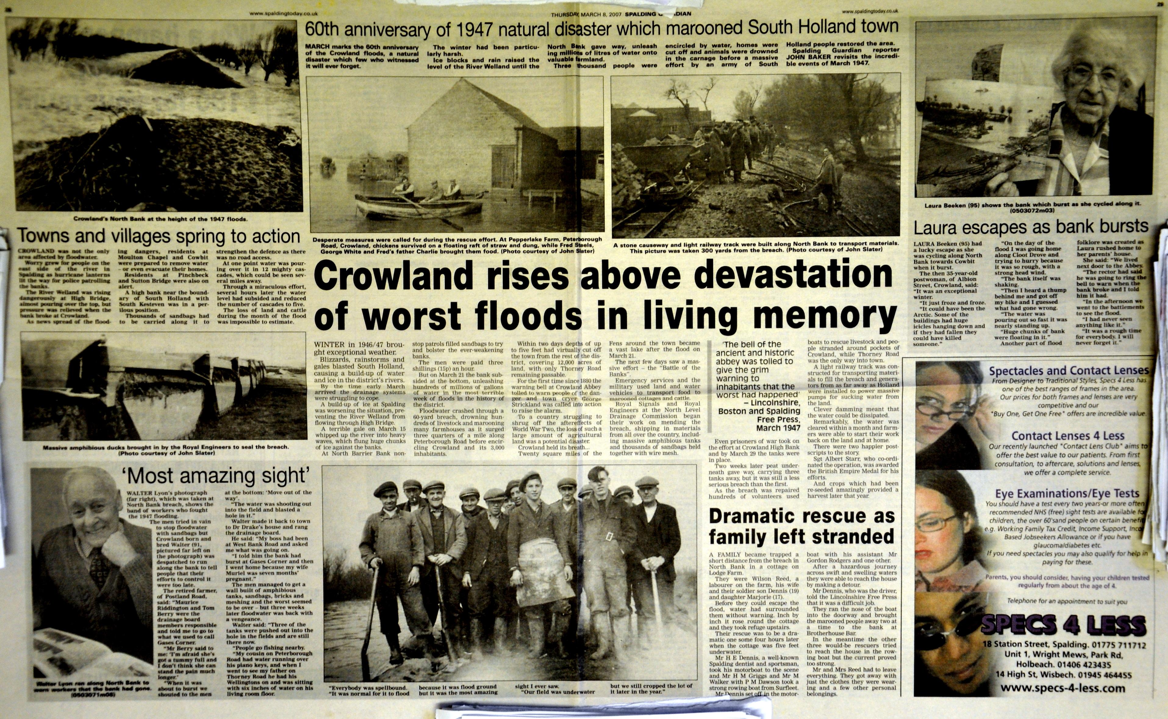 Crowland flood