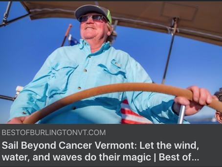 Featured in Best of Burlington Magazine: Sail Beyond Cancer Vermont