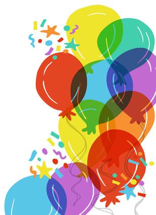 Colorful balloon celebration
