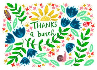 Thanks a bunch, garden