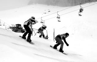 Leysin snowboard cross course