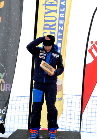 Leysin ski snowboard cross podium