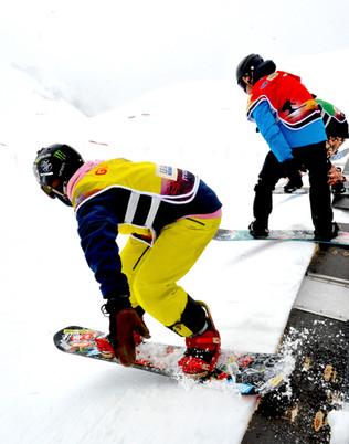 Leysin snowboard cross départ