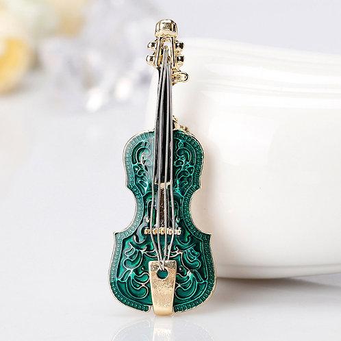 """Брошь """"Зелёная скрипка"""""""