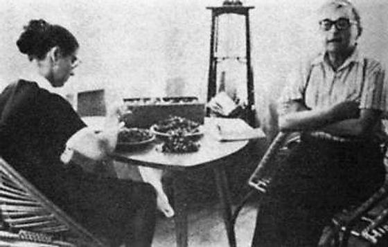 Дмитрий Шостакович с Ириной Антоновной. 1965. Репино. Фото В. Григоровича