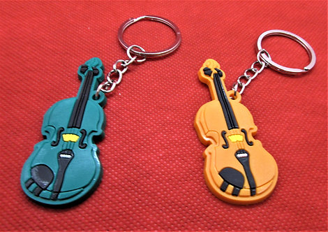 """Брелок """"Цветная скрипка"""""""