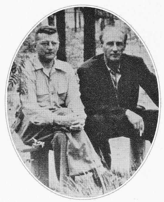 Шостакович и Мравинский в Репино. Дата и авто снимка неизвестны