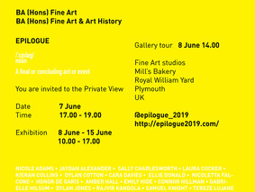 'Epilogue' - Fine Art degree exhibition