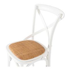 SAL - Villa X-Back Chair Aged White Rattan Seat