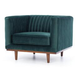 SAL - Madison Armchair Dark Green Velvet