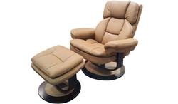 FC - Atlas Chair & Stool - Beige PU