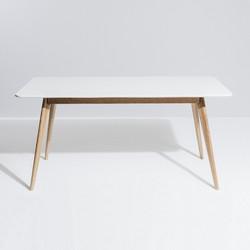 SAL - Radius Dining Table 160x80 (White Top)