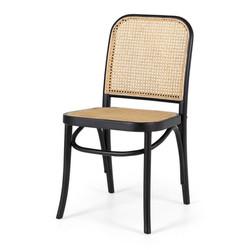 SAL - Matai Black Chair Rattan Seat