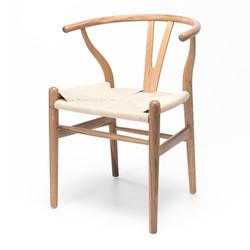 SAL - Wishbone Chair Natural Oak Natural Rope Seat