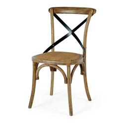 SAL - Villa X-Back Chair Smoked Oak Rattan Seat