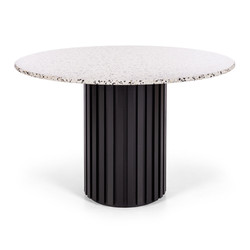 SAL - Terrazzo Rd Dining Table 120 (Black Oak Base)
