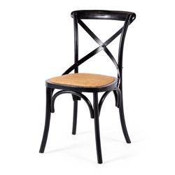 SAL - Villa X-Back Chair Aged Black Rattan Seat
