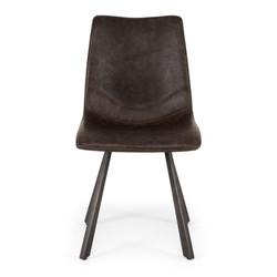 SAL - Rustic Chair Vintage Dk Brown PU