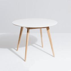 SAL - Radius 1m rd Dining Table (White Top)