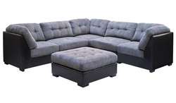 Fc - Detroit Corner Suite - 6 Piece Fabric - Sectional