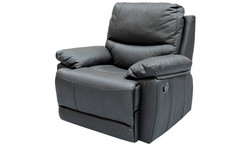 FC - Beaumont Recliner Chair - Black Leather