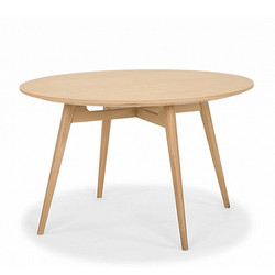 SAL - Linea Dining Table 120rd (Natural Oak)