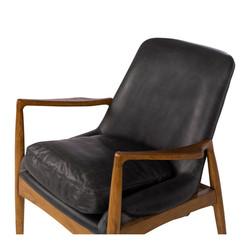 SAL - Steiner Armchair Black Wax Leather