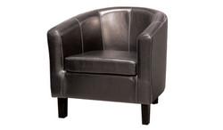 FC - Clinton Tub Chair - Black PU