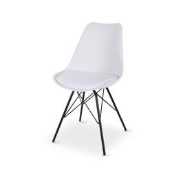 SAL - Rake Dining Chair WHITE