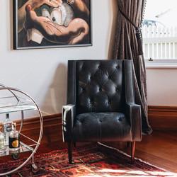 SAL - Winston Armchair in Charme Black