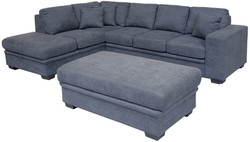 FC - Merrivale SofaBed & Chaise - Left (New Fabric)