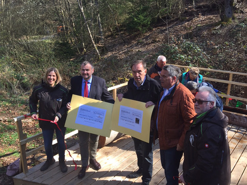 Einweihung der Wassertretanlage am Eichbornsbach
