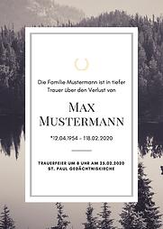 Grau Schwarz Natur Foto Tod Bekanntgabe.