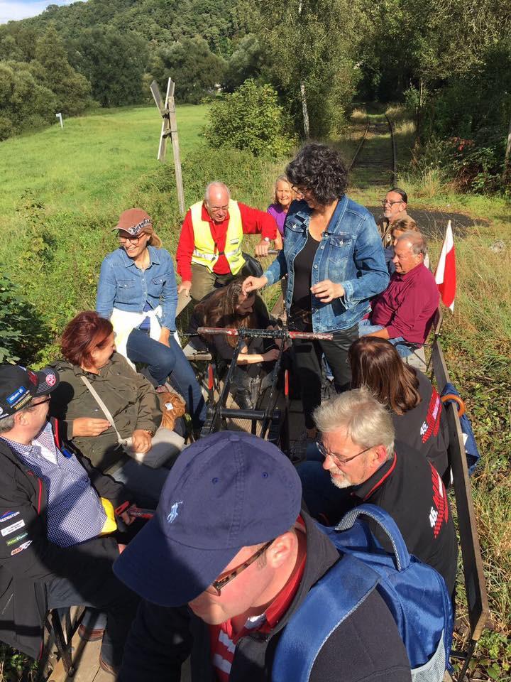 Draisinenfahrt der Mitglieder, Freunde und Förderer des Gewerbekreises Aarbergen e.V. im schönen Aartal zwischen Rückershausen und Michelbach.