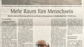 Bistum Limburg fördert Inklusionshaus in Waldernbach mit 170.000 Euro