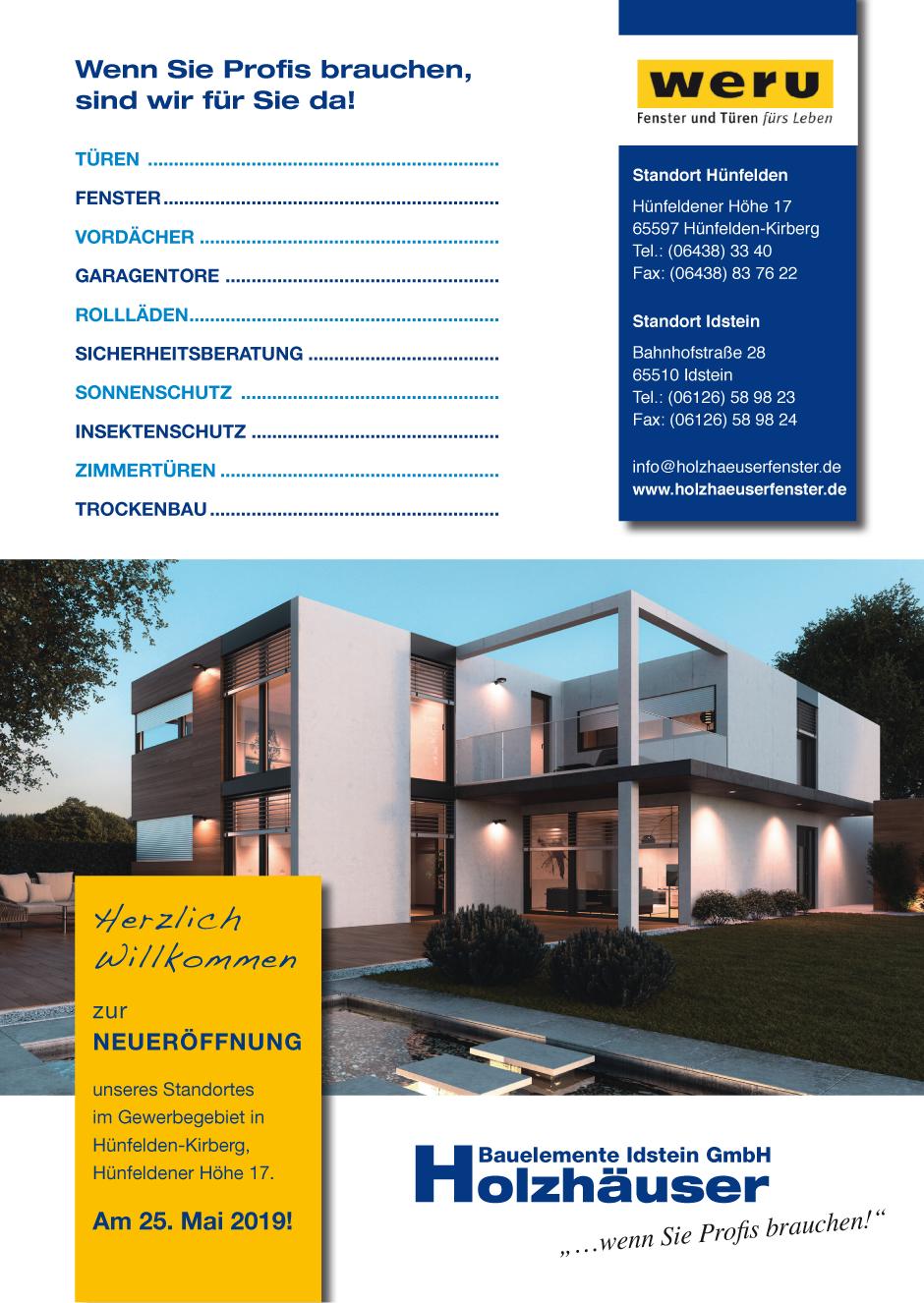 Bauelemente Holzhäuser GmbH