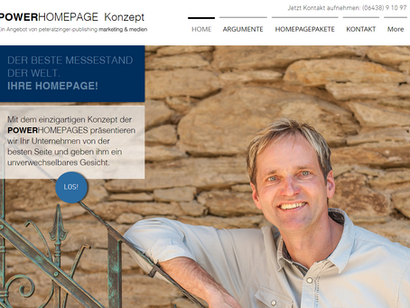 Moderne Kundenansprache im Internet - So geht's mit Konzept. POWERHOMEPAGE-Konzept