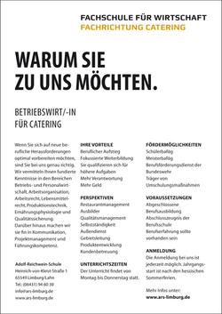 Betriebswirt/-in für Catering