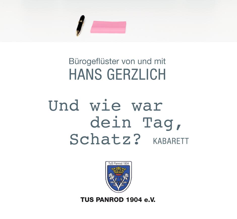 Bürogeflüster von und mit Hans Gerzlich beim TuS Panrod 1904 e.V. in Aarbergen-Panrod am 17. März 2018